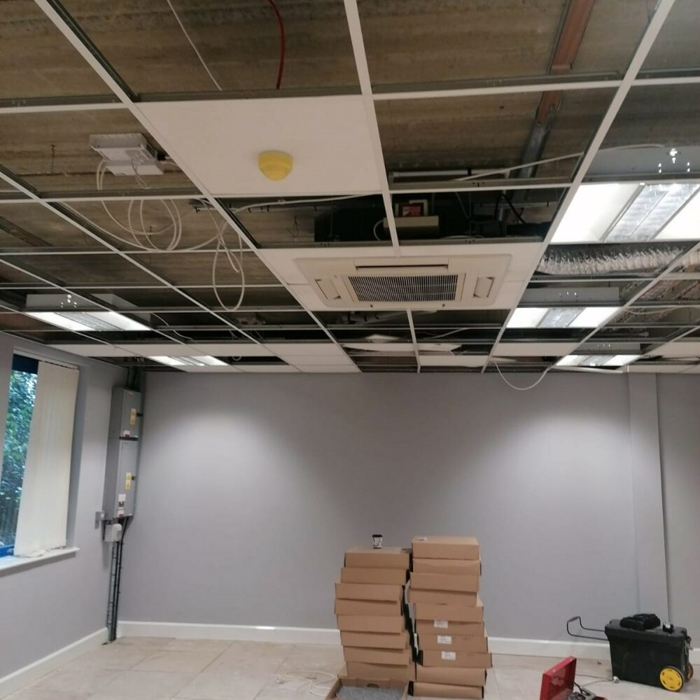 Office Air Conditioning- Ceiling cassettes