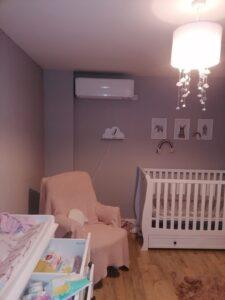 Mitsubishi nursery AC system