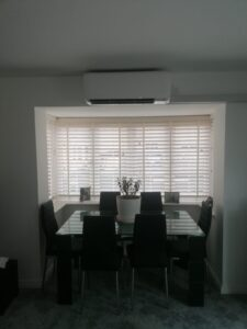 Dining room wall mounted AC system
