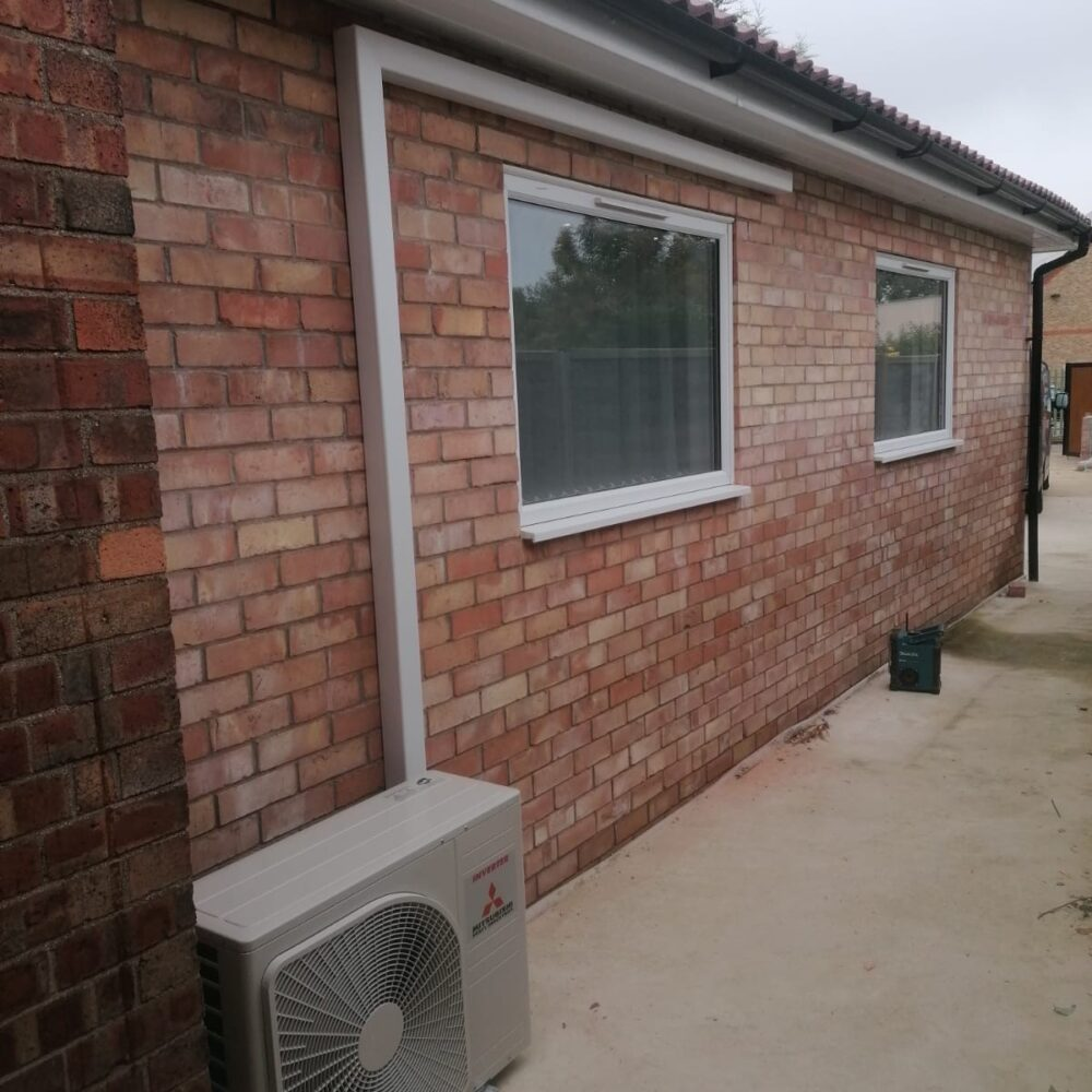 Outdoor Condenser with white trunking