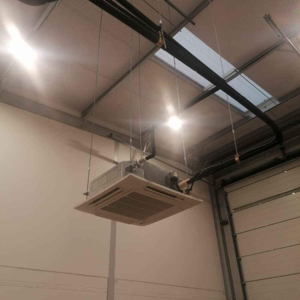 Ceiling suspended Air Conditioning cassettes