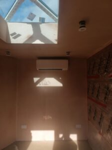 Kitchen Wall Mounted Air Conditioning unit installation