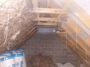 Ducted Air Conditioning system in loft space with ceiling vents