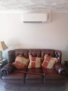 Lounge Wall Mounted Air Conditioning unit installation