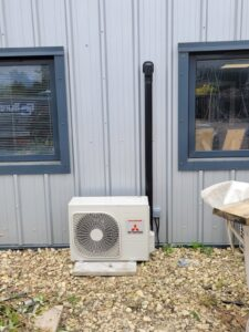 Outdoor Condenser Mitsubishi AC system commercial